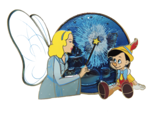 Blue Fairy Bringing Pinocchio to life pin