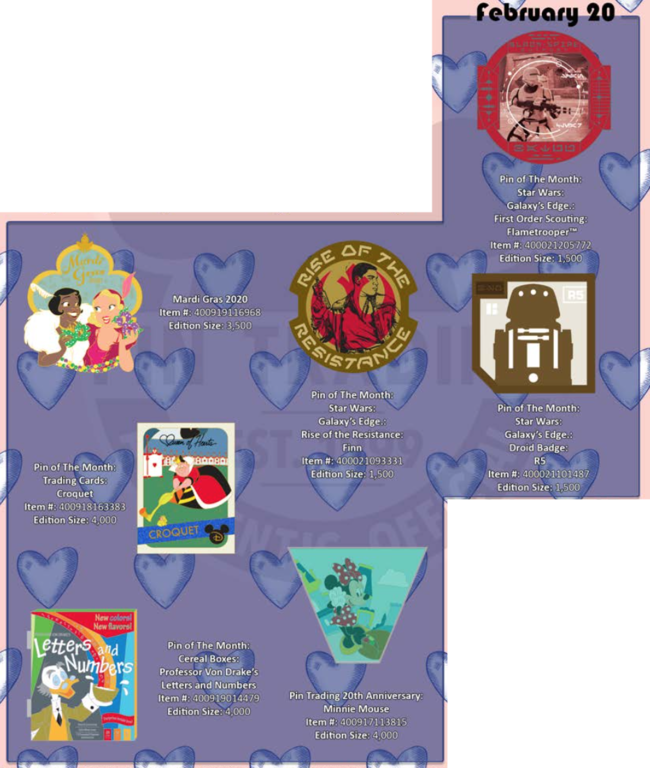 February 20th pin releases