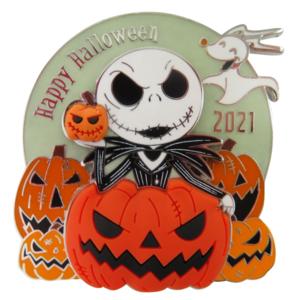 Jack and Zero - Happy Halloween 2021 pin