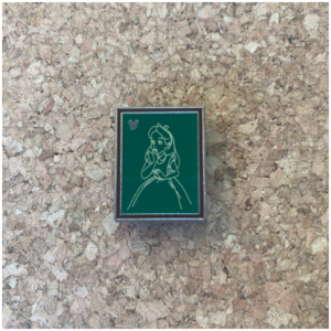 DLR - Alice Hidden Mickey Chalk Sketches collection pin