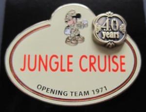Jungle Cruise - Name Tag pin