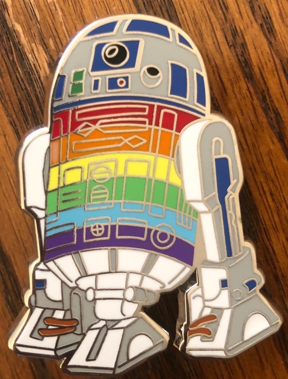 """A Grade """"A"""" R2D2 pin, exactly as the artist imaged with no flaws"""