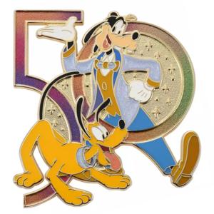 Goofy and Pluto iridescent - Walt Disney World 50th Anniversary pin