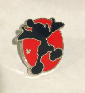 Hidden Mickey 2018 - Red Silhouette - Mickey Presenting pin
