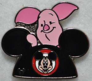 Piglet - Hidden Mickey Ear Hat pin