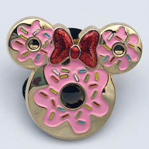 Minnie Mouse donut/doughnut pin