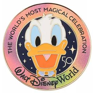 Donald Duck - 50th lanyard starter set - Walt Disney World 50th Anniversary pin
