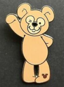 Waving Duffy - Hidden Mickey Duffy the Disney Bear pin