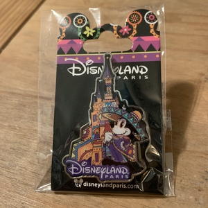 Dia de Los Muertos Cinderella Castle pin