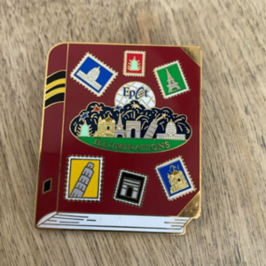Illuminations passport book pin