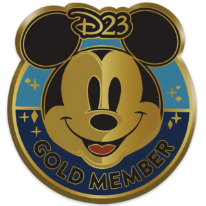 D23 Exclusive Mickey Mouse Gold Member pin