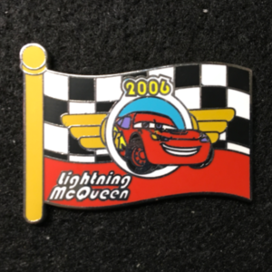WDW Character Flag Mystery Lightning McQueen pin