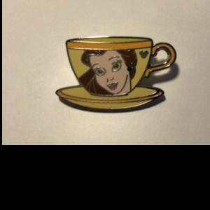 Belle Hidden Mickey Tea Cup pin