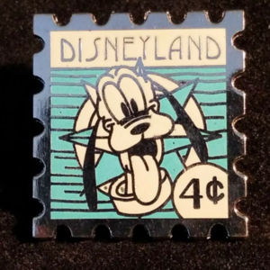 DLR - 2008 Hotel Hidden Mickey Stamp Collection - Pluto 4 Cent Stamp pin
