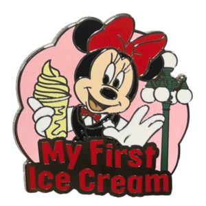 Minnie Mouse - My First Ice Cream - Mickey Mouse and Friends ''My First'' Pin Trading Starter Set pin