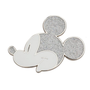 Mickey side on silver pin