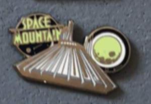 Space mountain earhat pin
