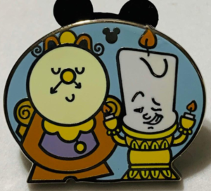 Lumiere and Cogsworth - Hidden Mickey pin