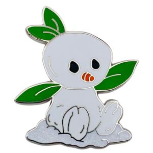 Orange Bird Snowman - Happy Holidays Snowman Mystery Box pin