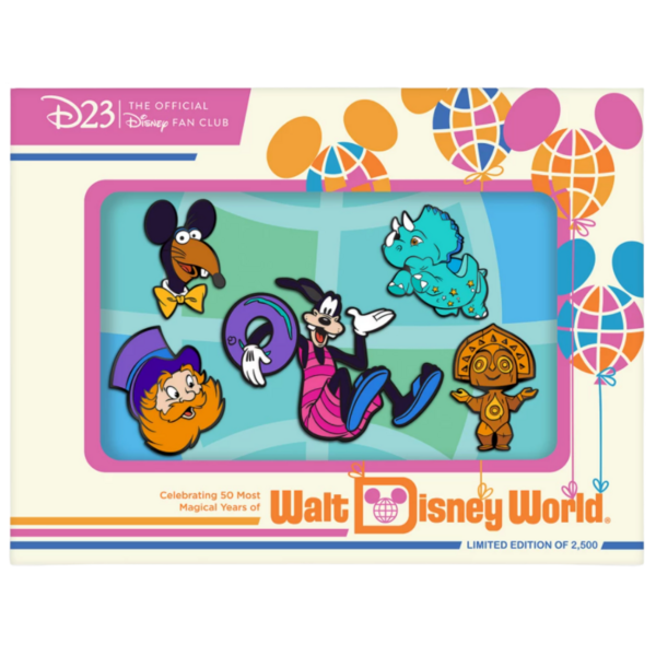 Dreamfinder - D23-Exclusive Walt Disney World 50th Anniversary Pin Set – ''The Vacation Kingdom of the World'' pin