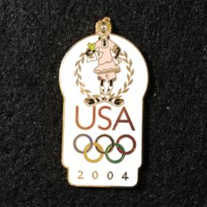 USA 2004 Olympic logo Goofy pin