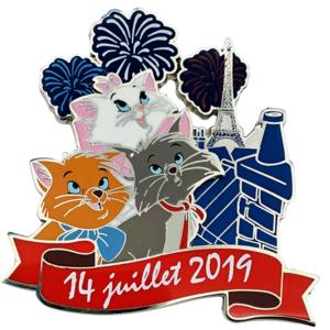 Bastille Day 2019 Aristocats pin