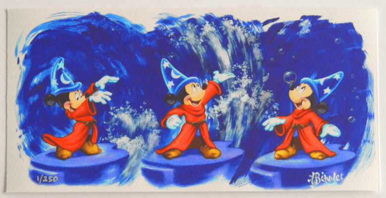 Fantasia Mickey Conducting Pin Release From Artland