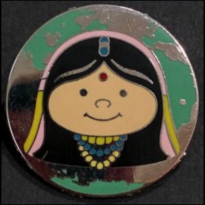 India - Hidden Mickey It's A Small World pin