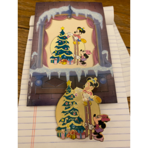 Mickey and Minnie Christmas Pin and Card pin