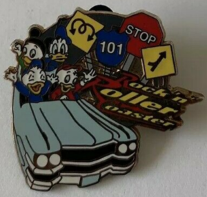 Rock 'N Roller Coaster - Walt Disney World Mystery Attractions pin