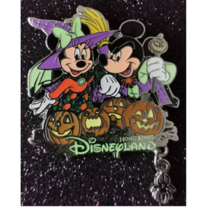 HKDL Halloween 2015 Mickey and Minnie  pin