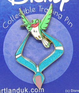 Flit carrying Pocahontas' necklace pin