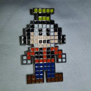 Goofy Pixels Grid pin