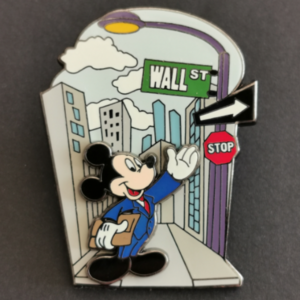 Mouse of Wall Street, NYC - Mickey Mouse  pin