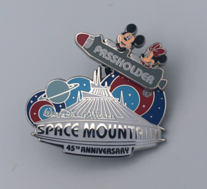 Passholder Exclusive Space Mountain 45th Anniversary pin
