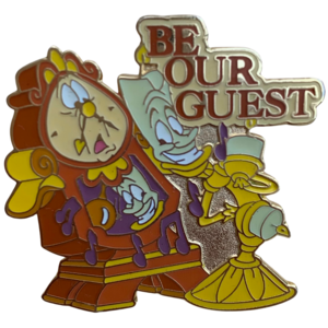Be Our Guest Lumiere and Cogsworth  pin